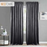 1PC Luxury Blackout Warm Soundproof Drapery Velvet Curtain Sunlight Block Drape for Bedroom House Decoration Living Room