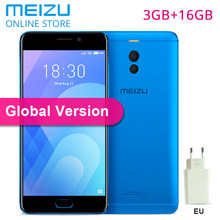 "Meizu M6 Note 3GB 16GB ROM Global Version Mobile Phone Snapdragon 625 Octa Core 5.5"" 1920X1080P Screen Dual Rear Camera 16MP EU(China)"