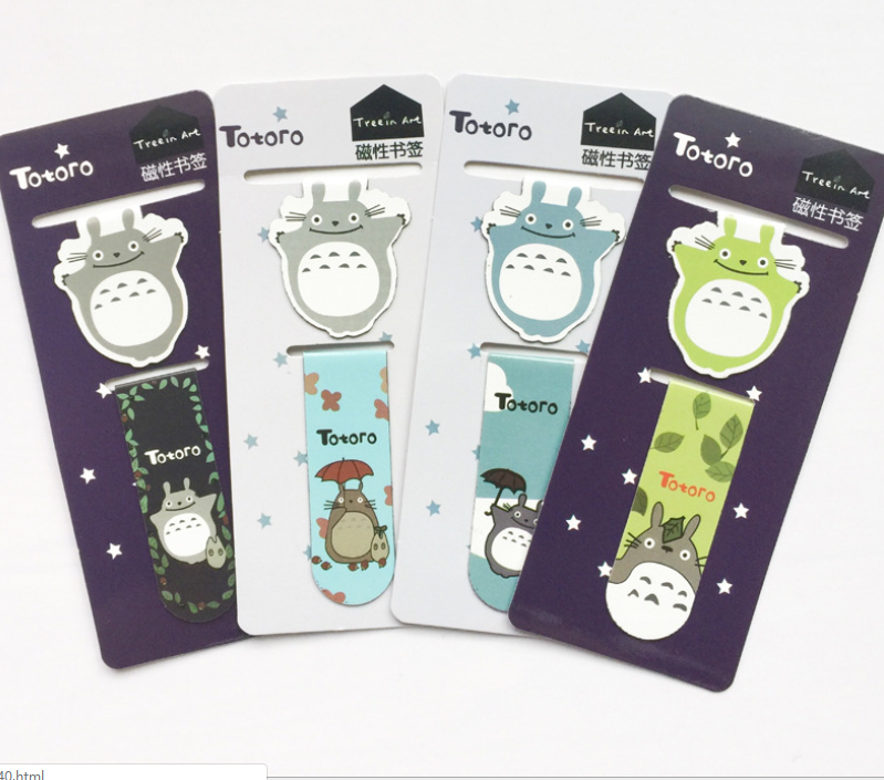1 Pcs Magnetic Bookmark Cute Cartoon Retro Book Mark Metal Bookmark School Office Supplies Stationery