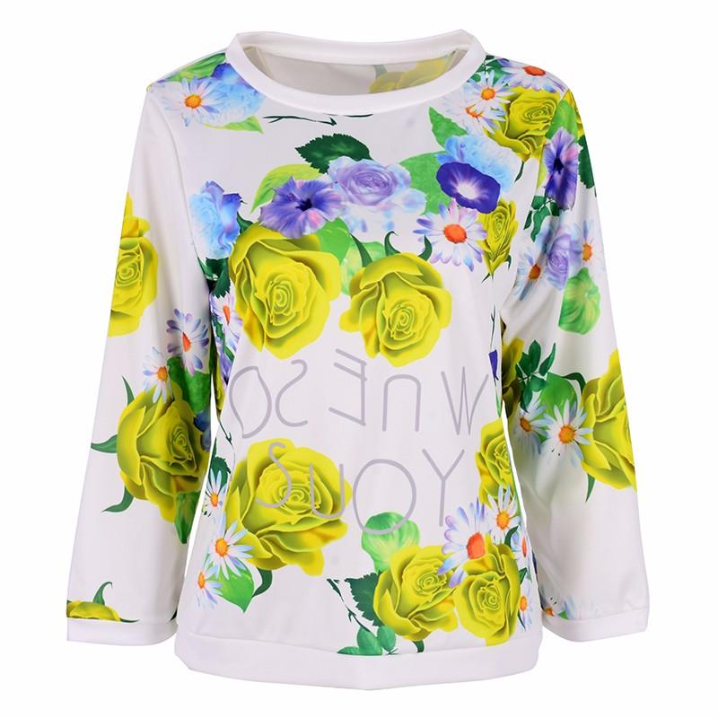 HTB1fwxzMXXXXXXwXXXXq6xXFXXXz - Autumn Women Girl Long Sleeve Floral Print T Shirts