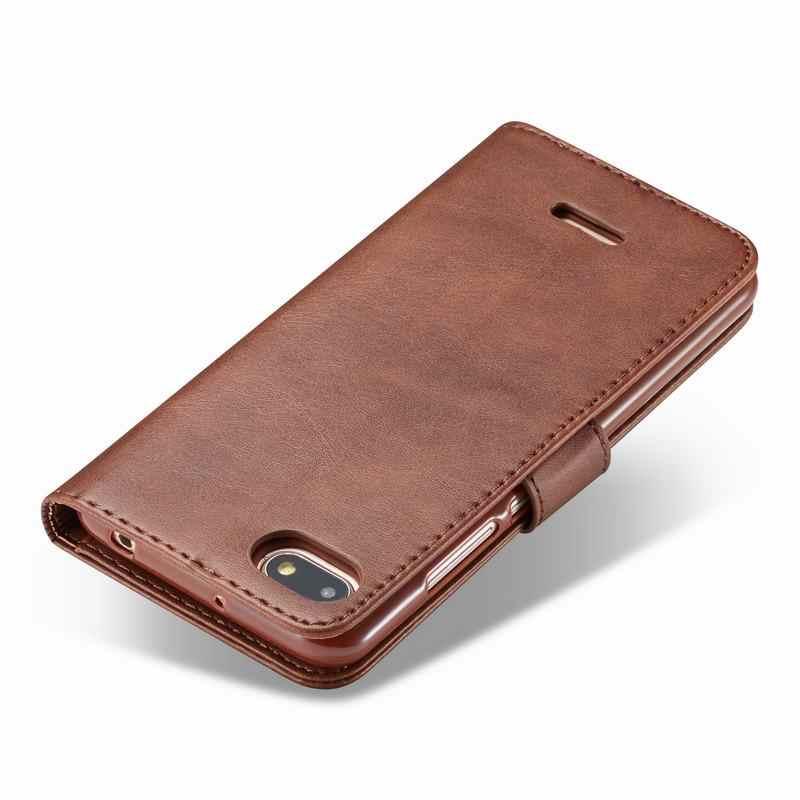 Mewah untuk Xiaomi Redmi 6A 7A Cover Case Magnet Flip Dompet Vintage Tas Kulit Di Xiomi Redmi Note 7 6 Pro Tritone