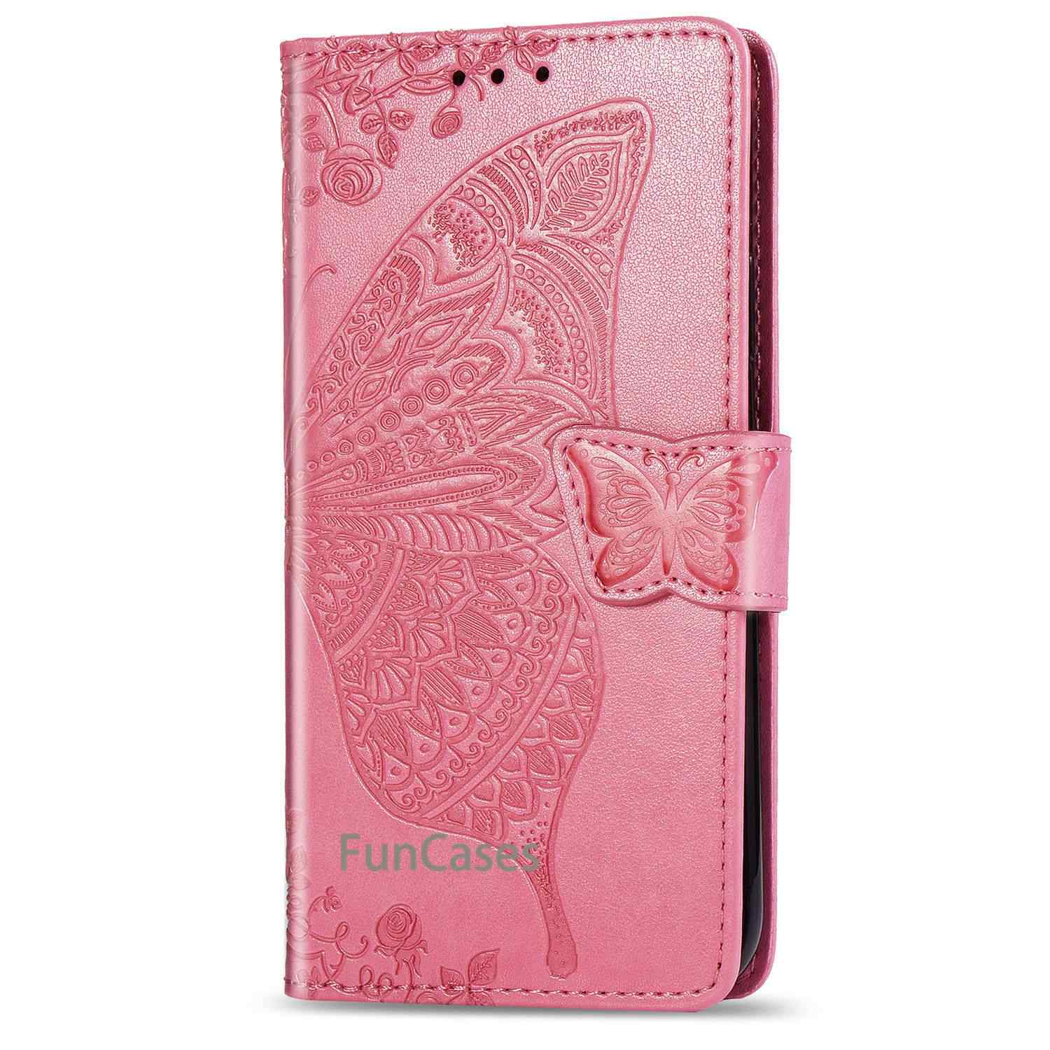 Cases For Samsung Galaxy J4 Plus 2018 Phone Case Cover Luxury Vintage Magnetic Flip With Card Slot Leather Bags For SAMSUNG J 4