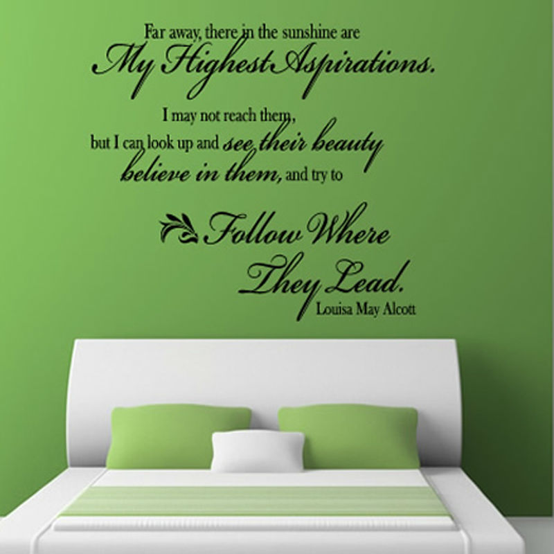 Inspirational Words: Inspirational Words Wall Sticker Quotes Art Decal Bedroom