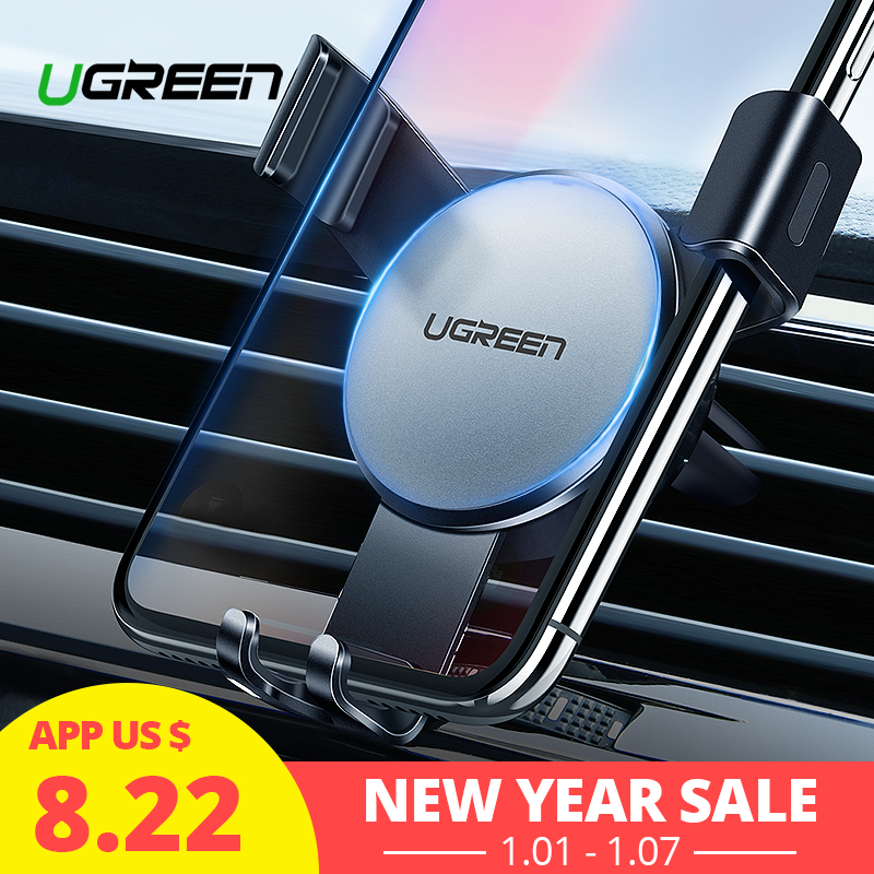 Ugreen Automobile Telephone Holder For Iphone X eight 7 6 Air Vent Mount Holder For Telephone In Automobile Smartphone Cell Assist Telephone Automobile Holder Stand
