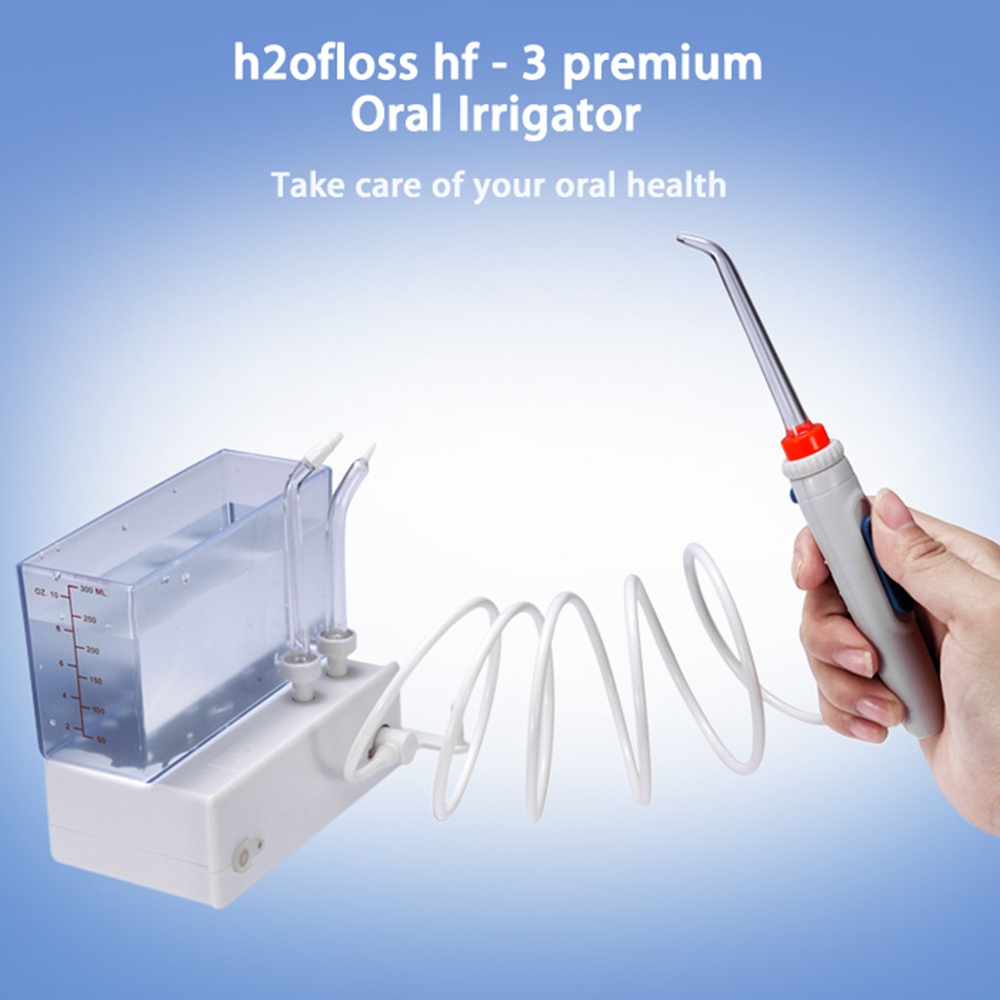 H2OFLOSS Water Flosser Oral Irrigator hf - 3 Premium Water Floss Water Cleaner Irrigador Dental Portable Teeth Cleaning Machine nicefeel electric oral teeth dental water flosser dentistry power floss irrigator jet cleaning mouth cavity oral irrigador