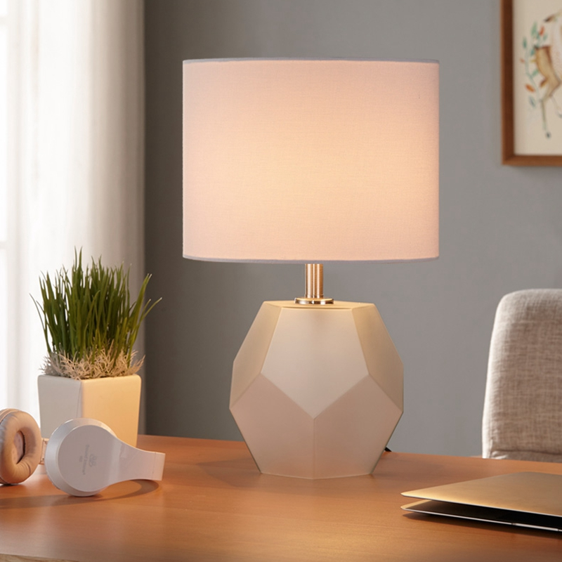 LukLoy Nordic Decorative Wedding Room Remote Control Table Lamp Bedroom  Bedside Lamp Simple Modern Warm Romantic European Light