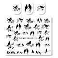 1 Sheet NICOLE DIARY Cute Water Decals Black Bird leaves Pattern Manicure Nail Art Water Transfer Sticker DIY