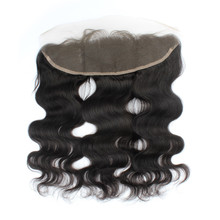 Brazilian Lace Frontal Closure 13″x4″ 7A Virgin Human Hair Closure Straight Silk Ear to Ear Lace Frontals with Baby Hair