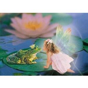 100% Полный 5D Diy Daimond картина крестиком лягушка и девочка Крест 3D Алмазная картина Полный Круглый Стразы картины Вышивка