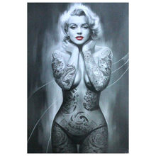 Tattoo Marilyn Monroe, Kunst, Diamant Stickerei, Volle, Strass, 5D, DIY Diamant Malerei, kreuz Stich Kits, Diamant Mosaik, mosaik(China)