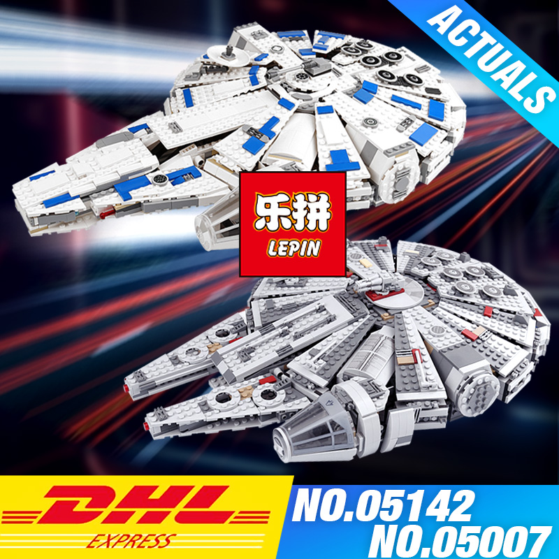 LEPIN 05007 Star 1381pcs Wars Building Blocks Force Millennium Awakens Falcon Model Kits Rey BB toy 8 Educational DIY toys 75105 star wars 7 darth vader millennium falcon figure toys building blocks set marvel kits rey bb 8 compatible toy gift many types
