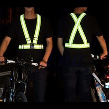 Outdoor 1PC Adjustable Safety Security High Visibility Reflective Vest Sport Running Gear Stripes