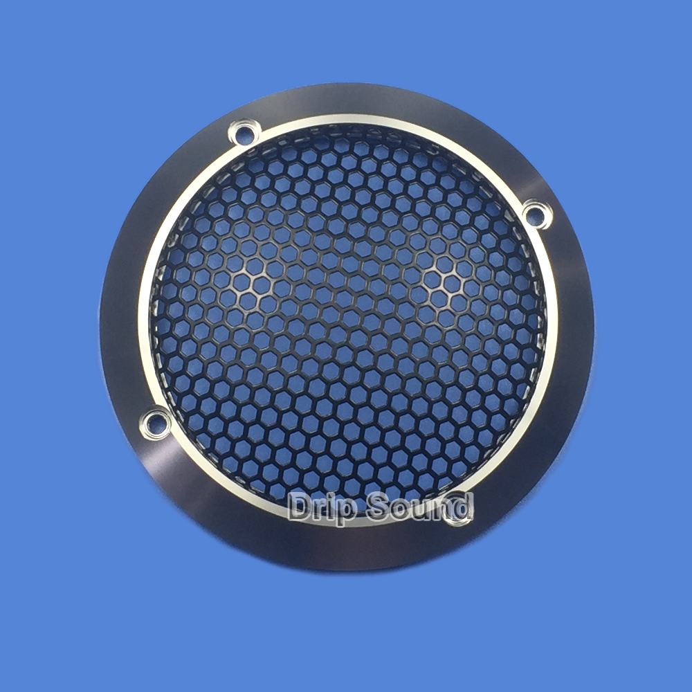 For 3 inch Speaker Grill Conversion Net Cover Car Audio Decorative Circle Full Metal Mesh Grille 97mm