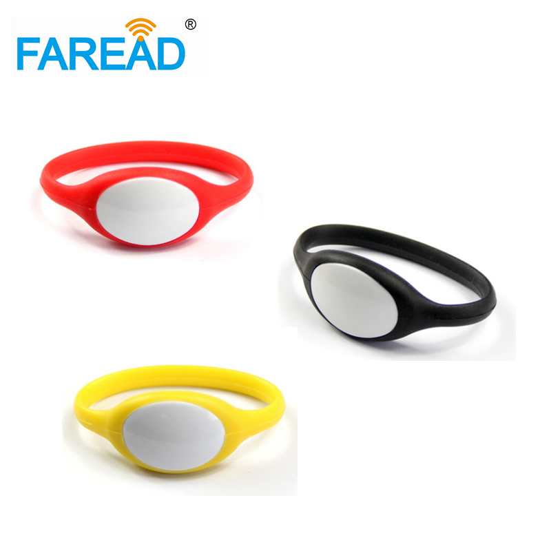 X100pcs Free Shipping 13.56mhz I-CODE-2 RFID Wristband  For Wimming Pool, Cooling Store