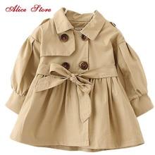 Alice/осенне-зимняя детская одежда; ветровка для маленьких девочек; модный однотонный топ для детей 1-6 лет; K1