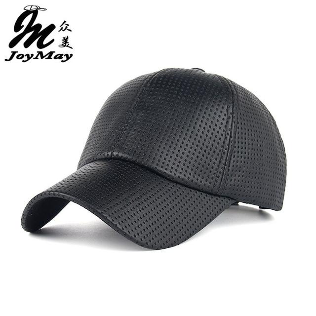 Cool! nova moda PU Respirável Quente Boné De Beisebol das mulheres Chapéus Para homens chapéu do inverno do tampão Do Camionista snapback dos Esportes para mulheres B357
