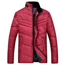 Новый 2016 Пиджаки Высокое качество карман зимняя куртка моды для мужчин среднего возраста молния стоять воротник Вниз и Парки мужская пальто