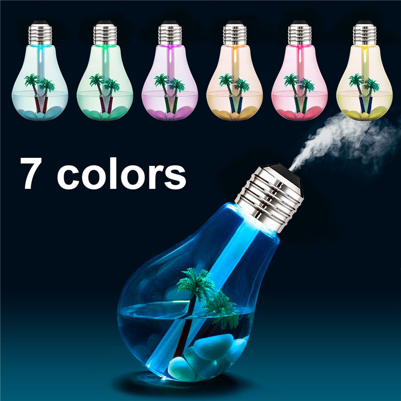 Mute USB Air Humidifer Colorful Aroma Diffuser With Smile Controller Diffusers Aromatherapy Diffuser With 7 Colorful LED Light