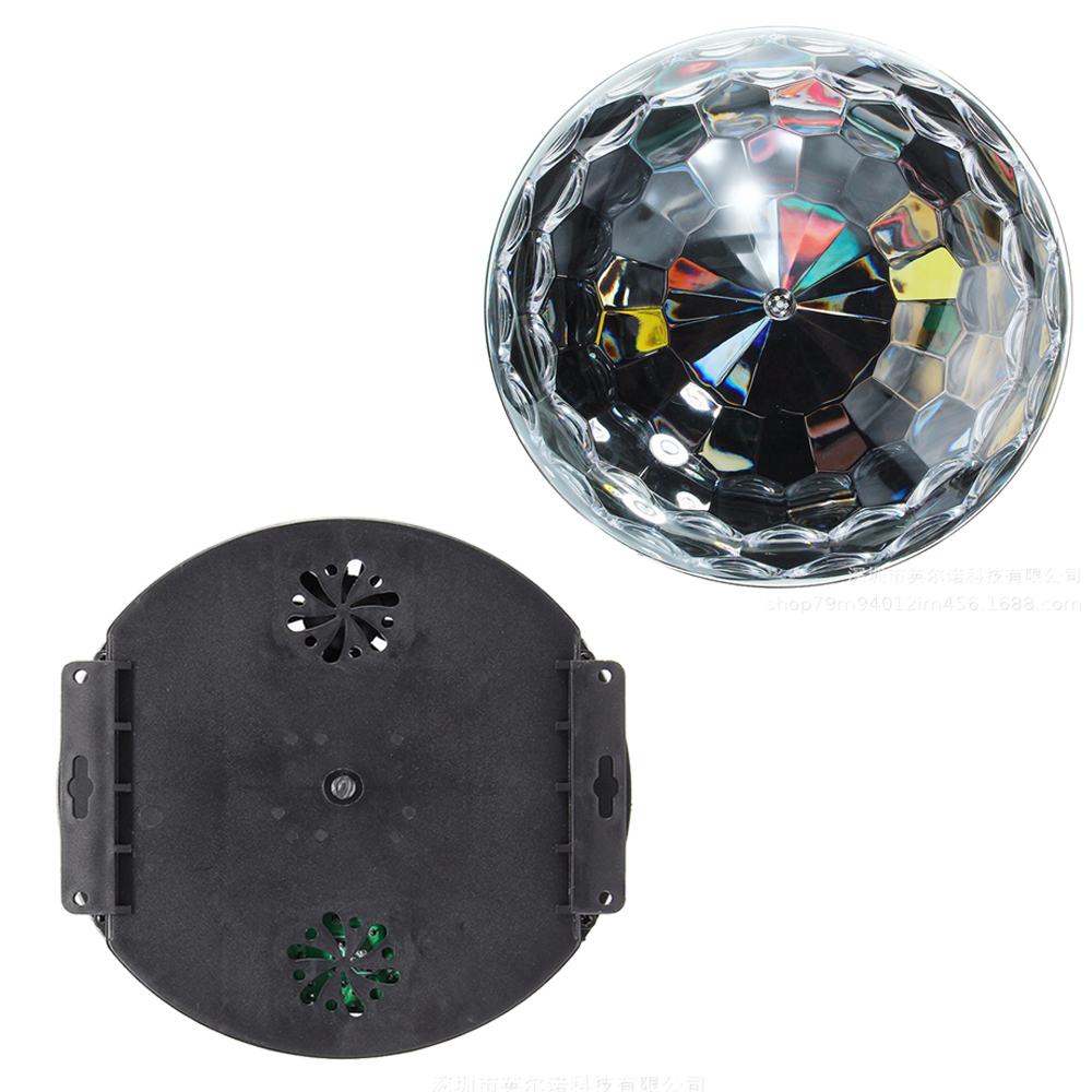 Image 5 - DMX512 RGB Premium Sound Control Stage Light LED 27W 9LEDS RGB Magic Crystal Ball Lamp Disco Light Laser Wedding home Party lase-in Stage Lighting Effect from Lights & Lighting on