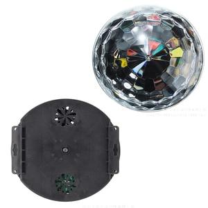 Image 5 - DMX512 RGB Premium Sound Control Stage Light LED 27W 9LEDS RGB Magic Crystal Ball Lamp Disco Light Laser Wedding home Party lase