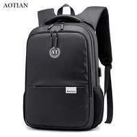 AOTIAN Men's Backpack Multifunction USB Charging Bag Women Rucksack 15inch Laptop Backpack Nylon Waterproof For Teenager male