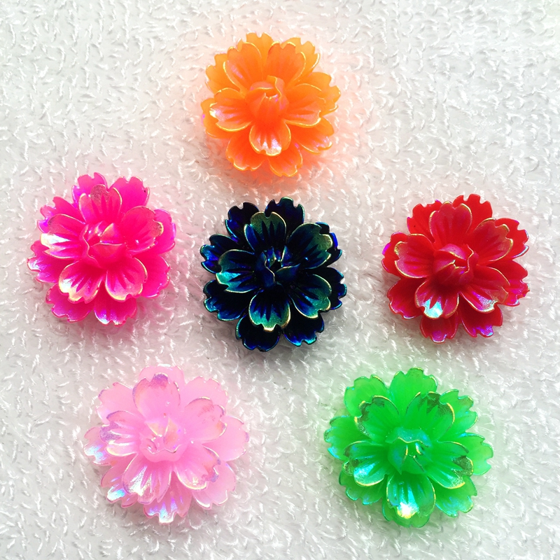 Wedding Flowers In Resin: Aliexpress.com : Buy Mix 12pcs 25mm AB Resin Flatback