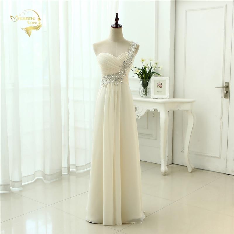 Mode HOT nouveauté Vestidos De Festa Robe De soirée une épaule Applique en mousseline De soie formelle longues robes De soirée 2019 OK3397