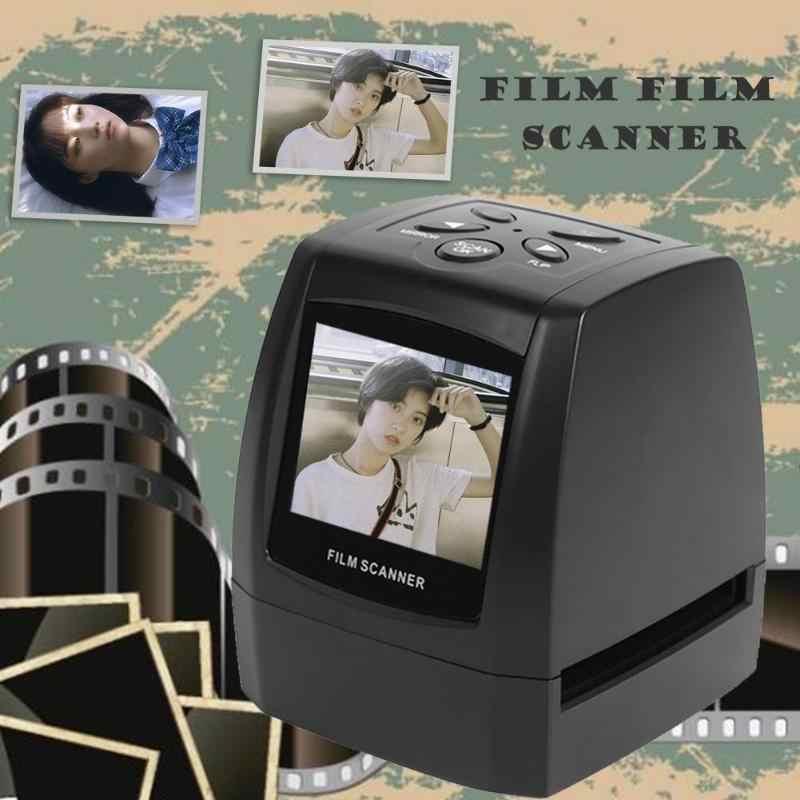مصغرة 5MP 35 مللي متر فيلم السلبية ماسحة كابل يو اس بي LCD الشريحة فوتو فيلم يحول تحويل الذكية فوتو فيلم يحول ل الصورة