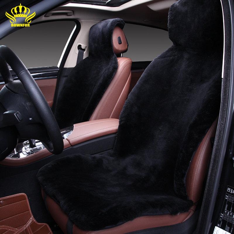 Awe Inspiring 1Pcs Wool Car Seat Cover Plush Fur Back Seat Cushions Bralicious Painted Fabric Chair Ideas Braliciousco