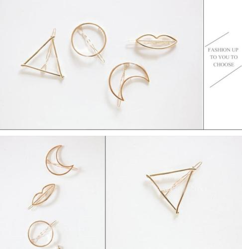 HTB1fx.hPpXXXXclXVXXq6xXFXXXv Chic Gold/Silver Plated Metal Triangle Circle Moon Hair Clip For Women - 4 Styles