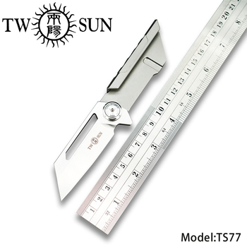 TWOSUN d2 blade folding Pocket Knife tactical knives Outdoor Camping hunting knife survival tool EDC TC4 bearings Fast Open TS77