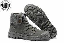 بلاديوم بالابروز جميع رمادي أحذية رياضية الرجال عالية المستوى العسكرية حذاء من الجلد قماش حذاء كاجوال الرجال حذاء كاجوال Eur حجم 39 45