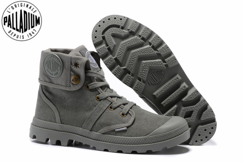 nowa wysoka jakość online tutaj znana marka US $49.6 20% OFF|PALLADIUM Pallabrouse All Grey Sneakers Men High top  Military Ankle Boots Canvas Casual Shoes Men Casual Shoes Eur Size 39 45-in  ...
