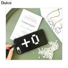 Здесь можно купить  DULCII DIY Building Blocks Case for iPhoneX iPhone6 iPhone7 iPhone8 3D Toy Hard Phone Cover for iPhone X 10 6 6s 7 8 Plus