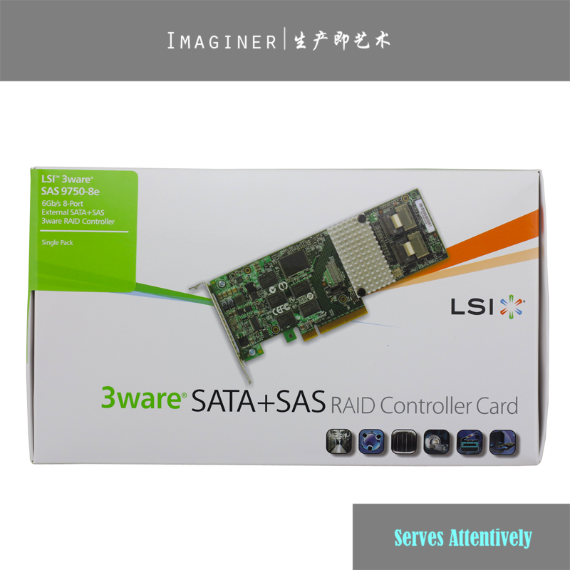 US $146 8 |LSI 9750 8e LSI00243 8 port Ext  2x SFF 8088 PCI E X8 6Gb/s SAS  SATA RAID Controller,New Retail,1 Year Warranty-in Add On Cards from