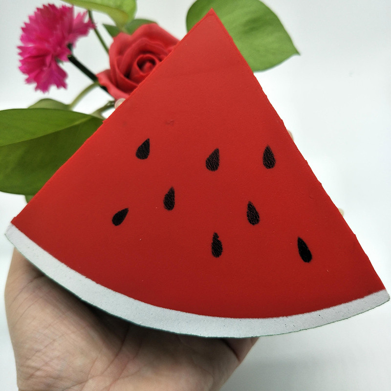 12cm Slow Rebound Pu Simulation Triangular Watermelon Car Pendant Hanging Car Styling Accessories Auto Decoration Relieve Stress Good Companions For Children As Well As Adults