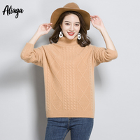 Rib Knitted Woman Sweater Winter 100% Pure Cashmere Women Oversized Sweaters And Pullovers Warm Soft Cashmere Female Jumpers