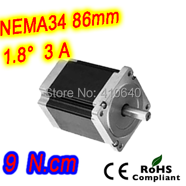 5 pieces per lot Nema 34 Stepper motor 34HS52-3004S L131 mm  with 1.8 deg stepper angle current  3 A  torque 9 N.cm and 4 wires nema 34 stepper motor 34hs59 5004s l150 mm with 1 8 deg stepper angle current 5 a torque 13n cm and 4 wires