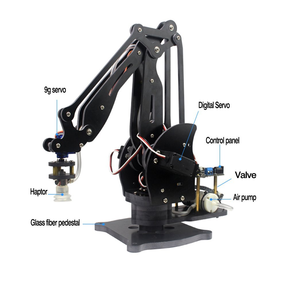 Abb Pump Mechanical Robot Arm Suction Cups Simulation Industry Manipulator Glass Fiber Stand with Full Digital Servo +Controller полюс abb 1sca105461r1001