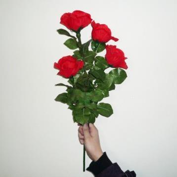 Éclairage rose télécommande (4 fleurs)-tour de magie de scène, magie des fleurs, magie de gros plan, magie pour amoureux, jouets Magia romantiques