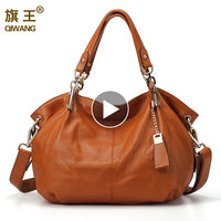 Amazon hot sales Women Genuine Leather Hobo Bag Female Real Leather Handbag Luxury Woman Office Fashion Bag Large Shoulder Bag