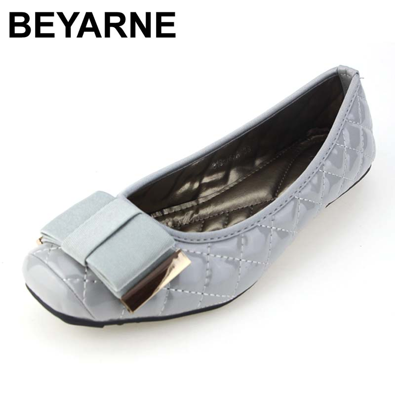 BEYARNE new arrival spring summer women single shoes shallow square toe party work shoes woman casual shoes flats free shipping beyarne new spring and summer women flats shoes women pafty shoes candy color shoes have size 35 41 free shipping