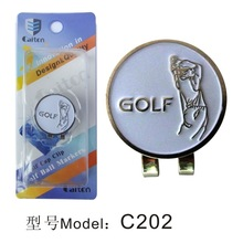 Golf Cap Clip marker Ball Magnetic Hat Clips  Outdoor Alloy accessories free shipping
