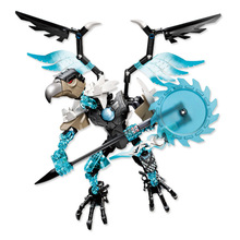 цена на 2018 New 815-5 Bionicle Robot DIY kids boys Building Block Toys gifts Action Figure Compatible With Chimaed