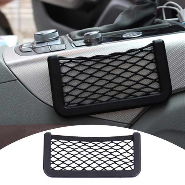 15x8cm Auto Storage Organizer Mesh Net Bag Holder Pocket Auto Interior Accessories Car Seat Back Organizer Stowing Tidying