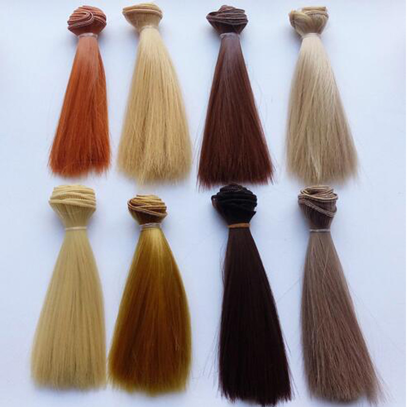 10PCS / LOT Hot 47Colors Straight Hair Doll Tilbehør BJD Doll Hair Parykker DIY
