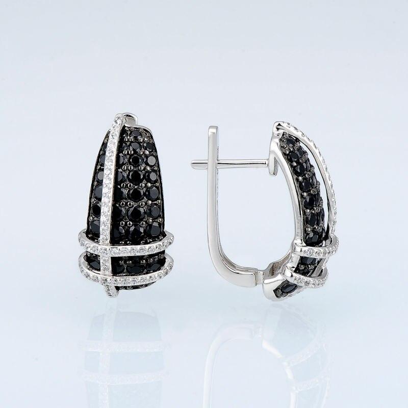 E303053BSNZSK925-SV2-Silver Earrings