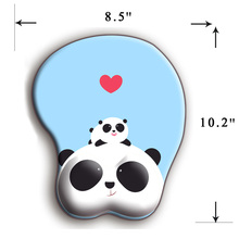 Anime Panda 3D Mouse Pad Ergonomic Soft Silicon Gel Gaming Mousepad with Wrist Support Animal Mouse Mat For PC Mac