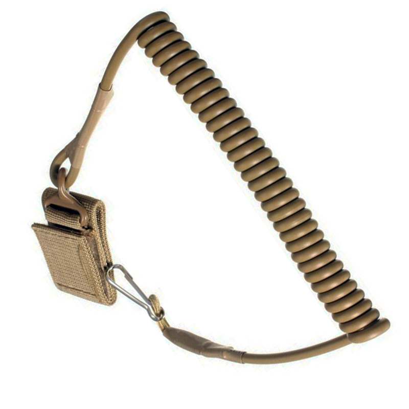 Airsoft Tactical Single Point Pistol Håndvåpen Vår Lanyard Sling Quick Release Shooting Jakt Rem Army Combat Gear