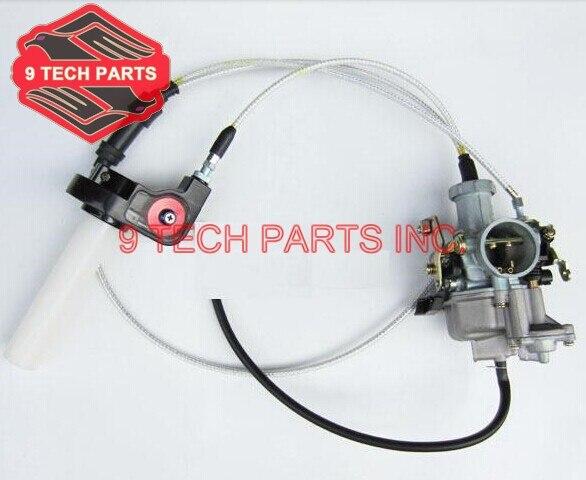 PZ30 30mm Carburateur Kit Jet Pompe Accélératrice Glissé Carburateur + Visible Transparent Papillon Régler + Double Câble
